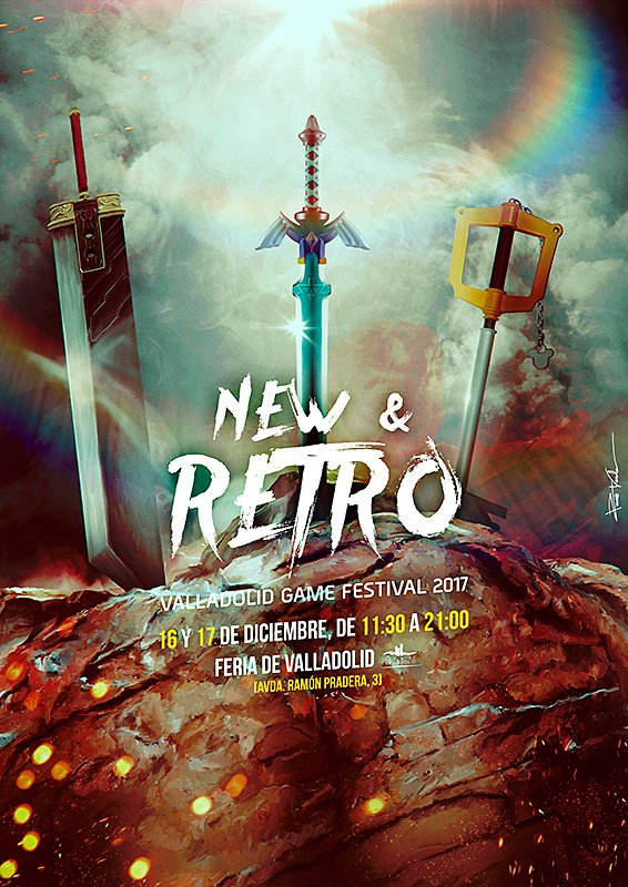 Cartel new and retro Valladolid