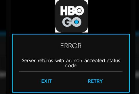 HBO códigos de error