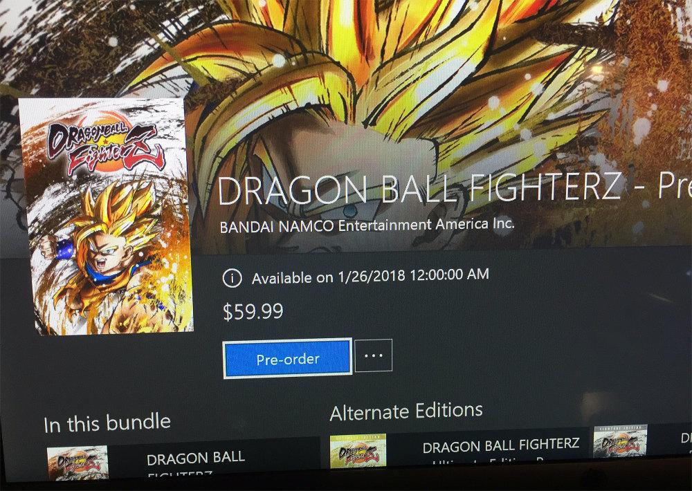 Dragon Ball FighterZ - Fecha filtrada