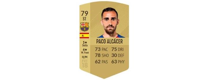 FIFA 18 - Paco Alcácer