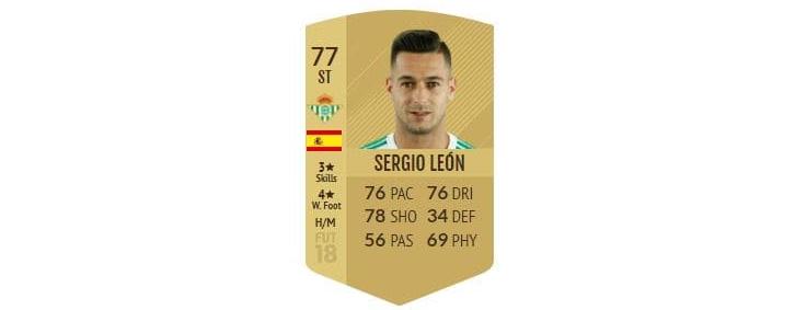 FIFA 18 - Sergio León