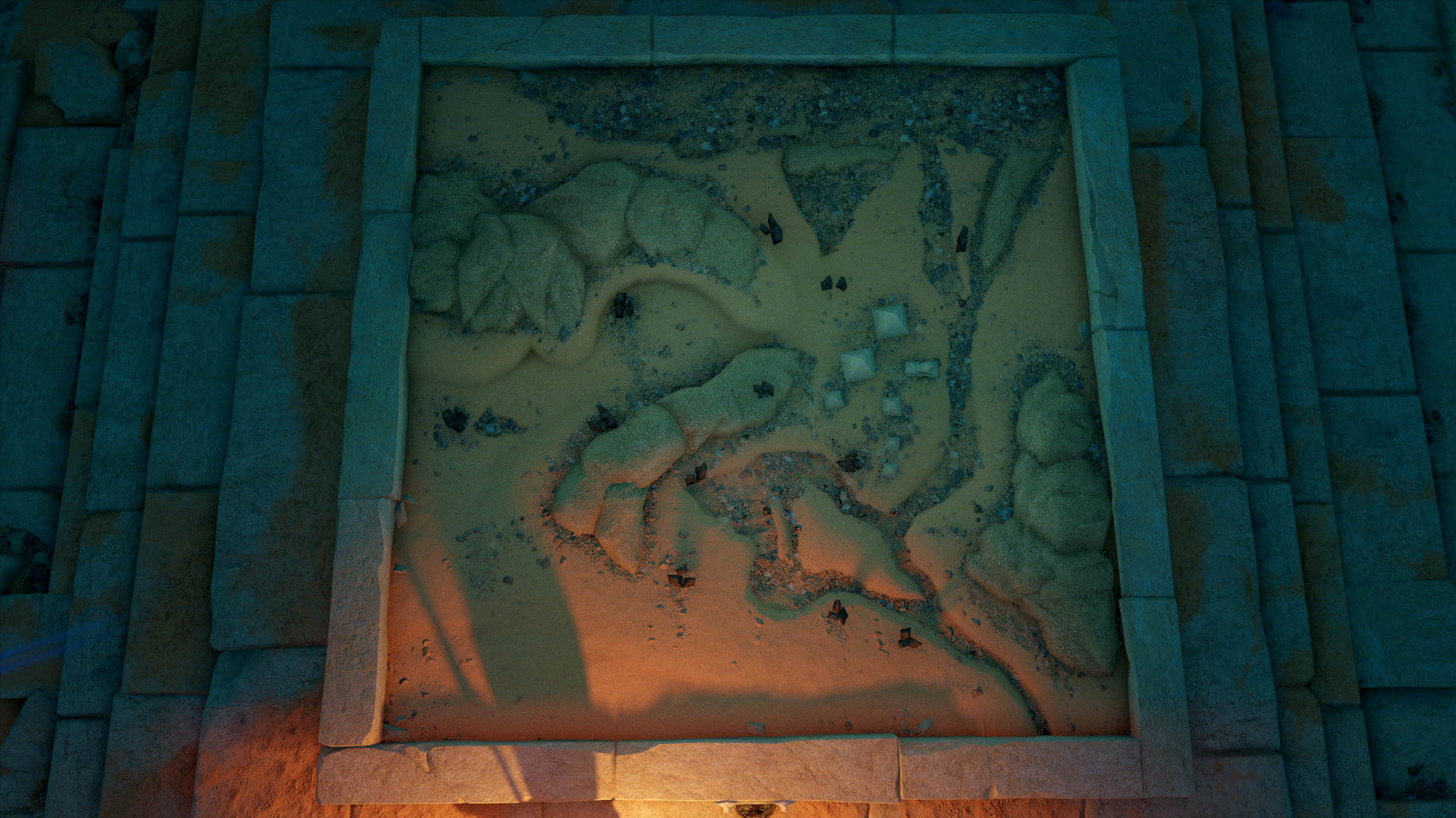 Assassins Creed Origins mapa círculos de piedras