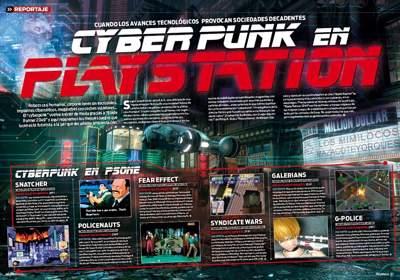 Los mejores juegos Cyberpunk en PlayStation en Playmanía 228