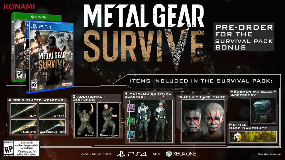 Metal Gear Survive - DLC reserva