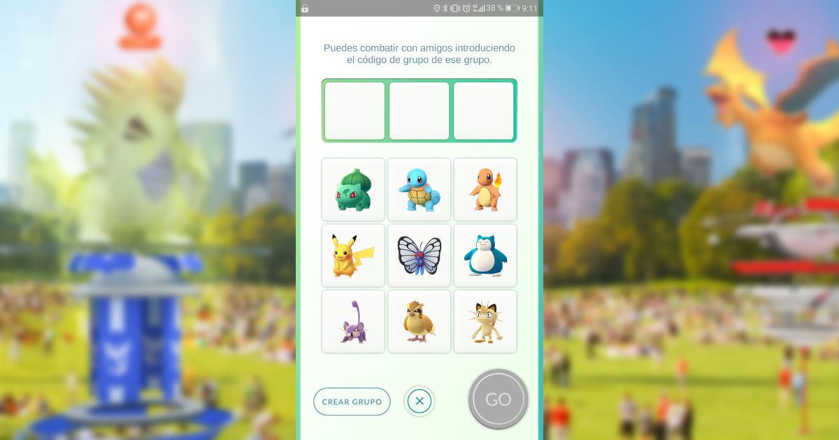 Pokémon GO Crear grupo privado