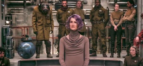 Star Wars: Los últimos Jedi muestra una nueva imagen de Amilyn Holdo