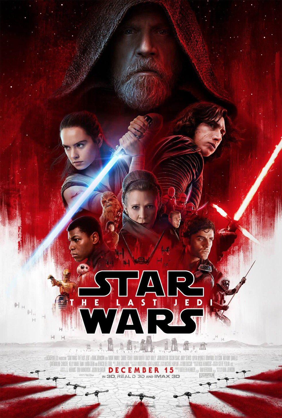 Star Wars: Los últimos Jedi - Póster de la película con Leia como personaje central
