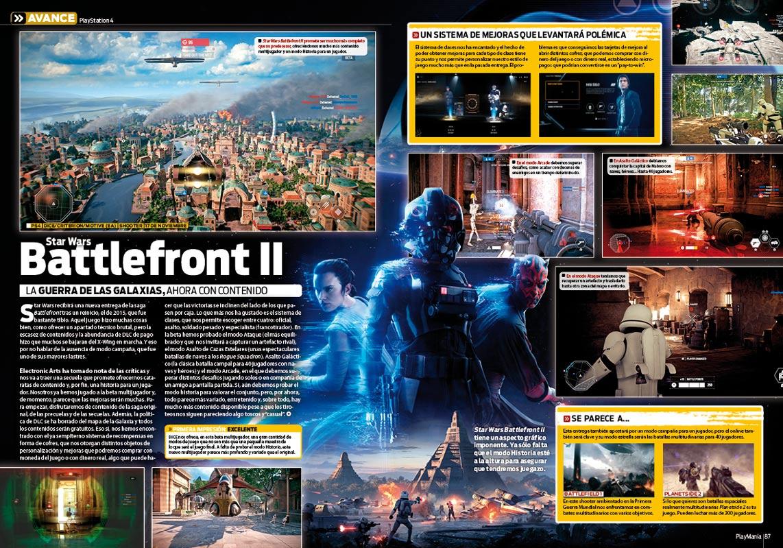 Todo sobre Star Wars Battlefront II en Playmanía 228