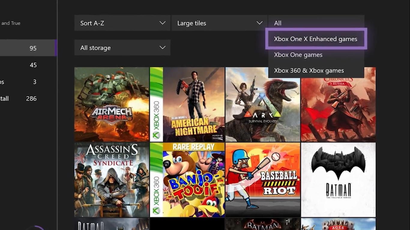 Transferir juegos Xbox One X