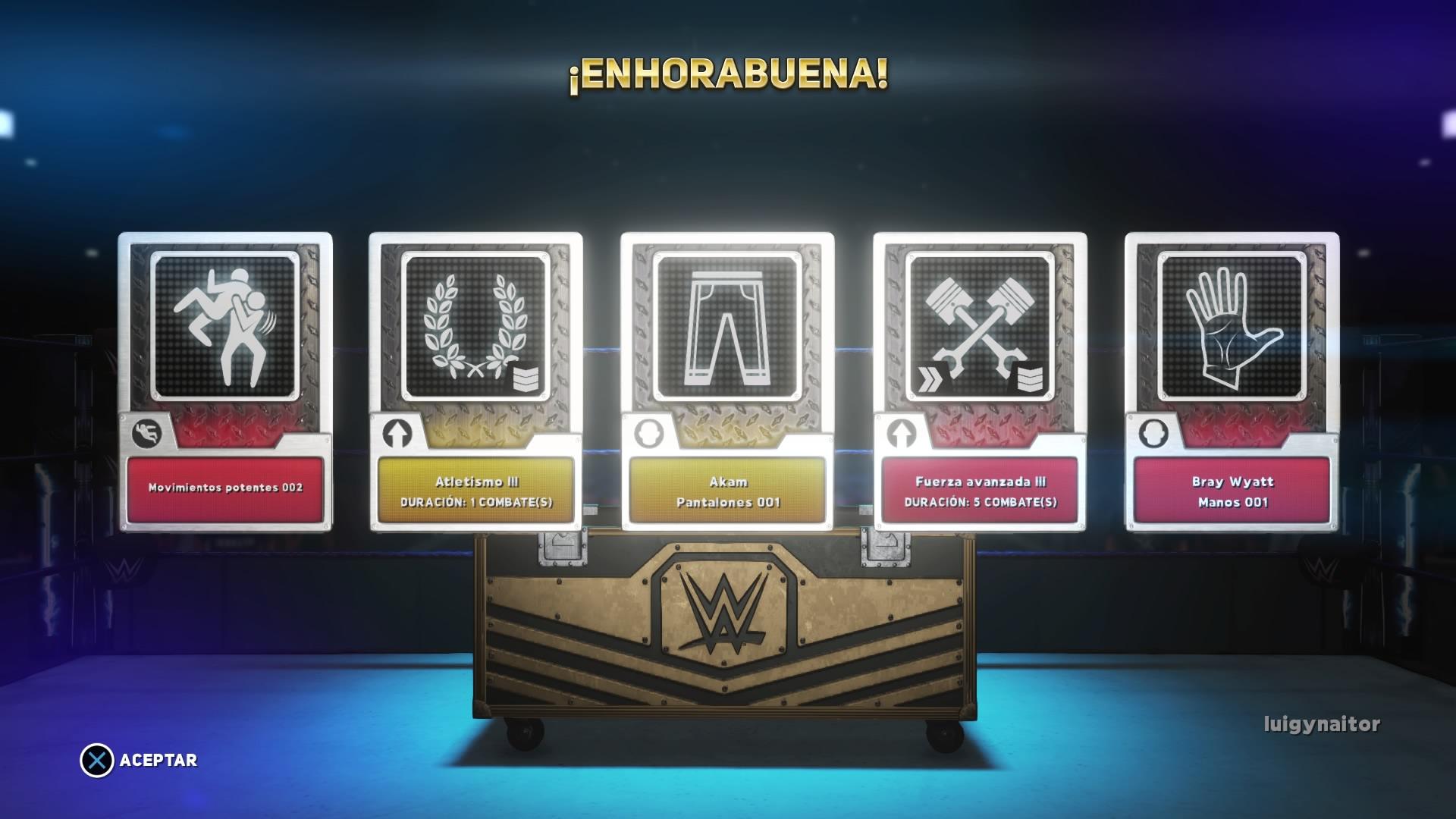 WWE 2K18 - Potenciadores