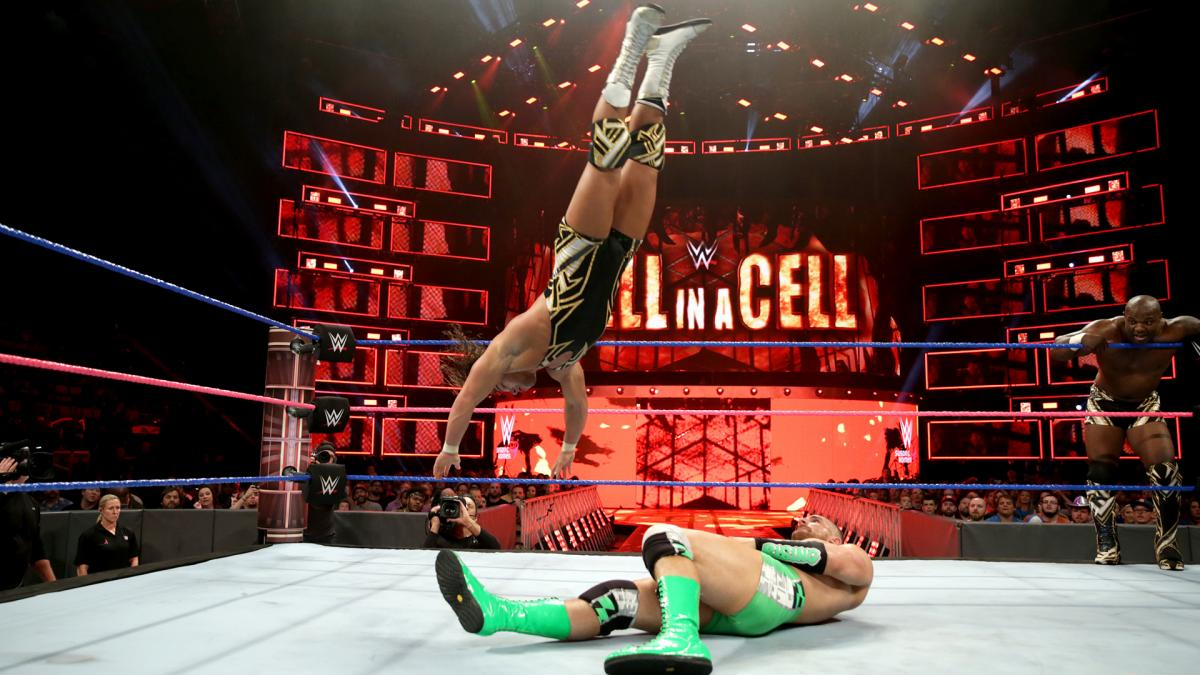WWE Hell in a Cell 2017 - Chad Gable y Shelton Benajmin vs. The Hype Bros