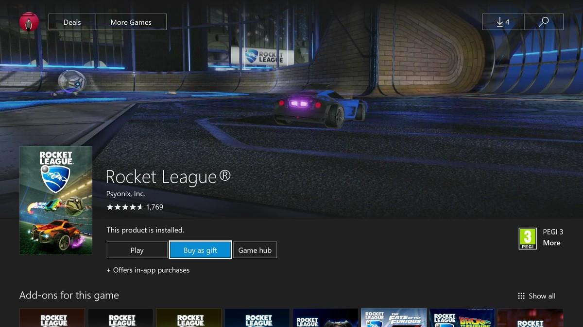 Xbox One permite regalar juegos a tus amigos
