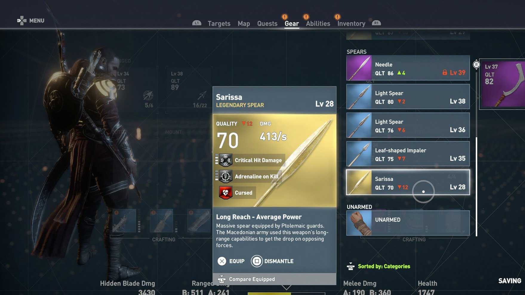 Assassins Creed Origins armas malditas