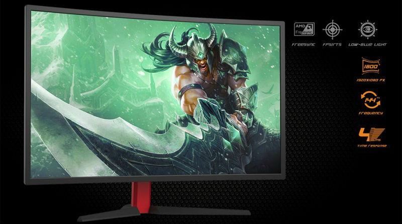 Monitor curvo gaming
