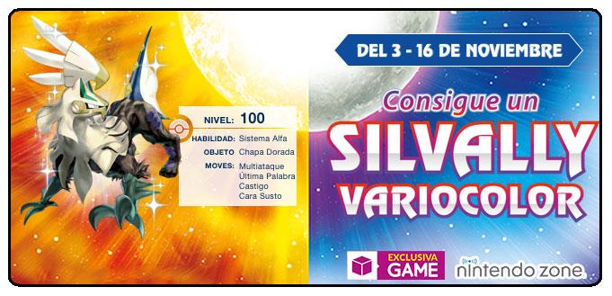Silvally Variocolor en GAME