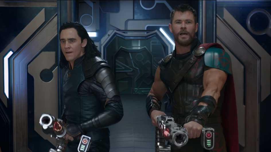 Thor y Loki en Thor: Ragnarok