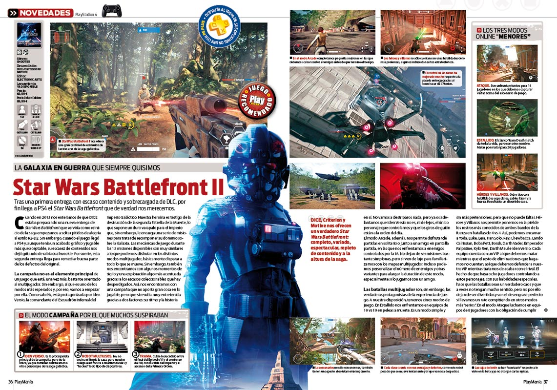 Todo sobre Star Wars Battlefront II en playmania 229