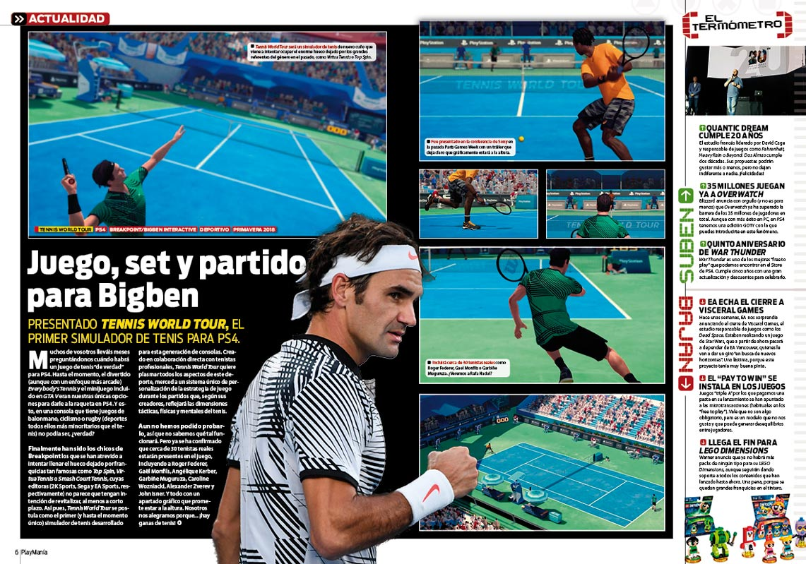 Todo sobre Tennis World Tour en Playmania 229