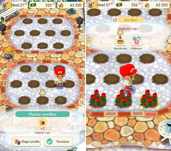 Animal Crossing Pocket Camp - Recolectar flores
