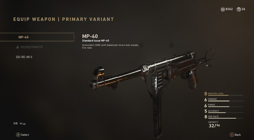 Call of Duty WWII - MP-40