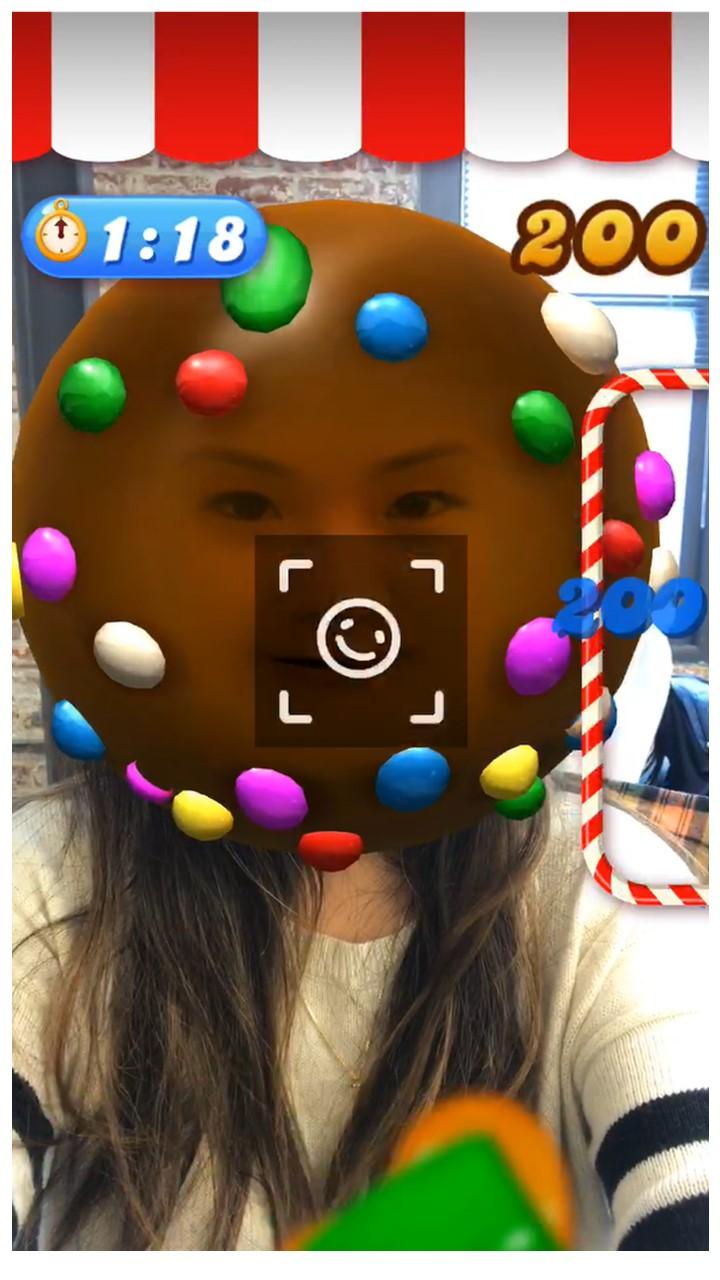 El filtro de Candy Crush para la realidad aumentada de Facebook