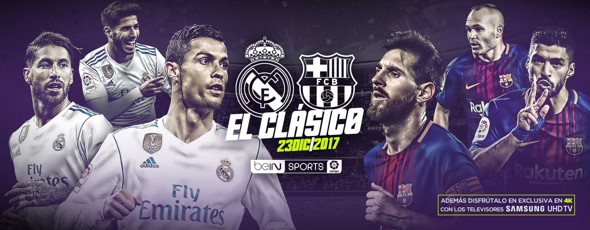 Clásico Real Madrid Barcelona en beIN Sports