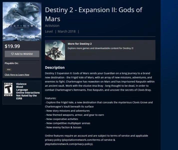 Destiny 2 expansión filtrada