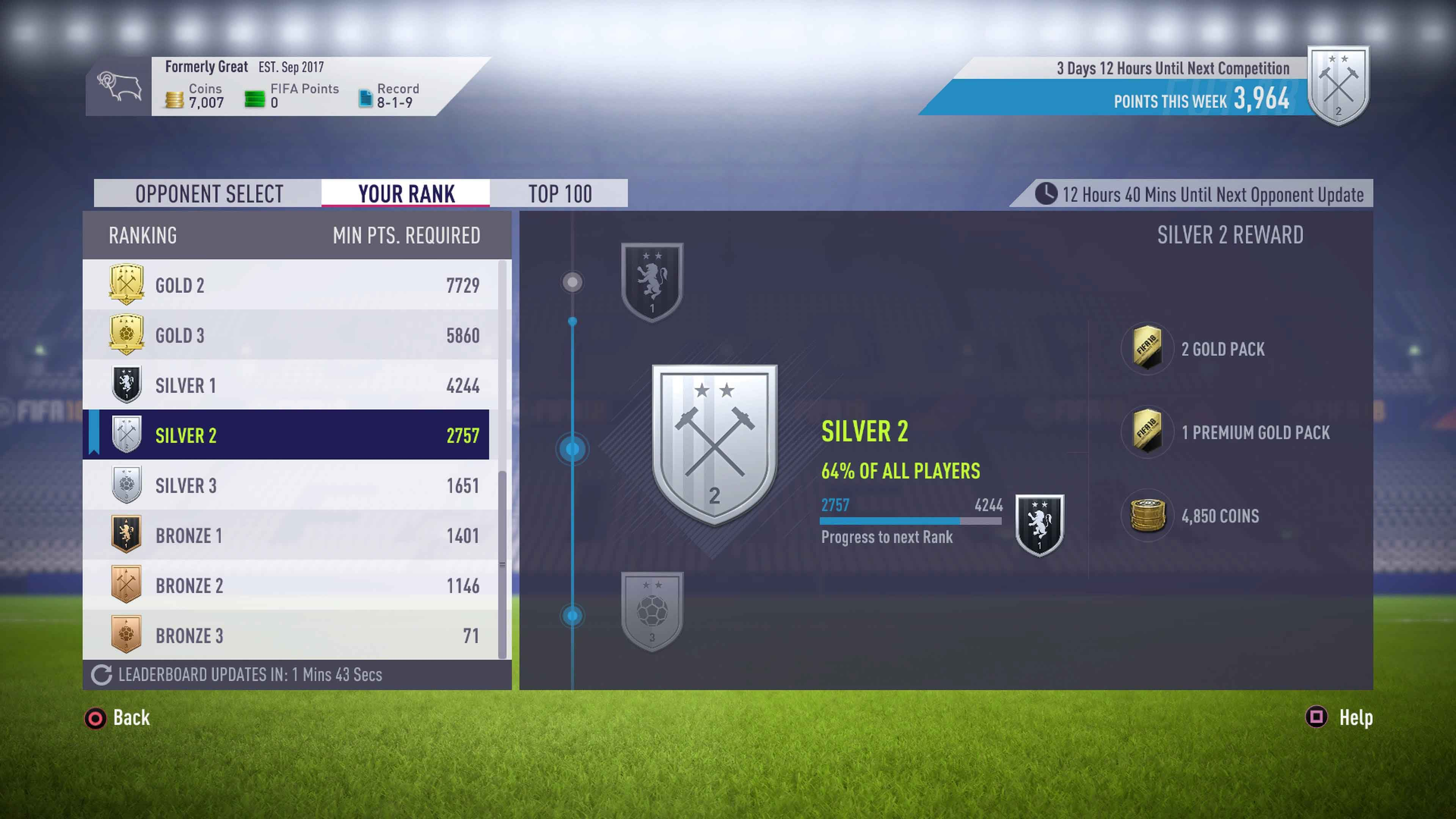 FIFA 18 Squad Battles Ultimate Team