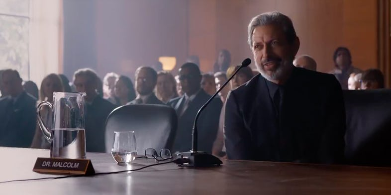 Jeff Goldblum en Jurassic World 2
