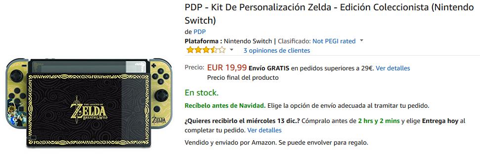 Kit de Personalización Zelda para Nintendo Switch