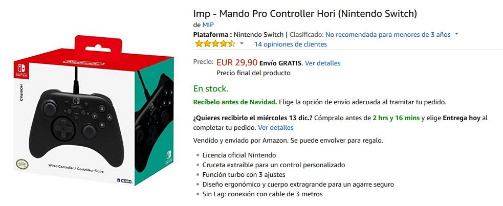 Mando Pro Controller de Hori para Nintendo Switch