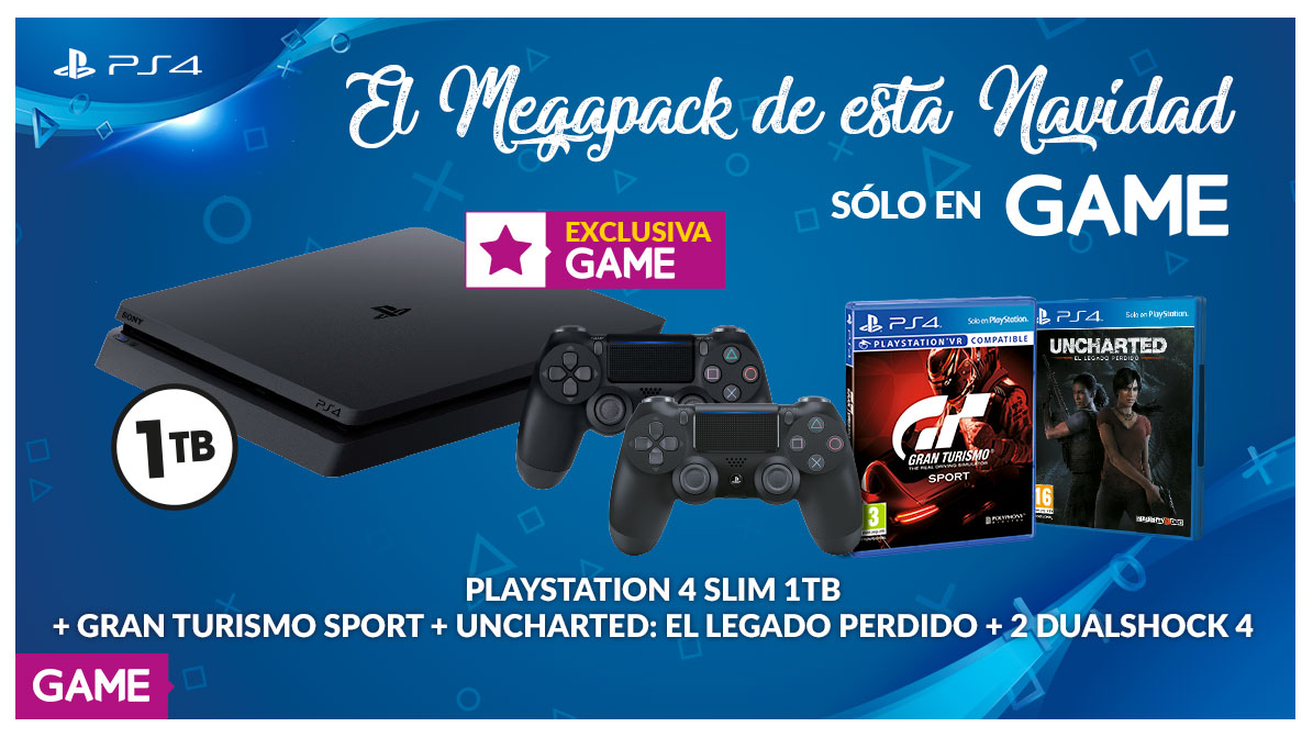 Megapack de PS4 exclusivo de GAME