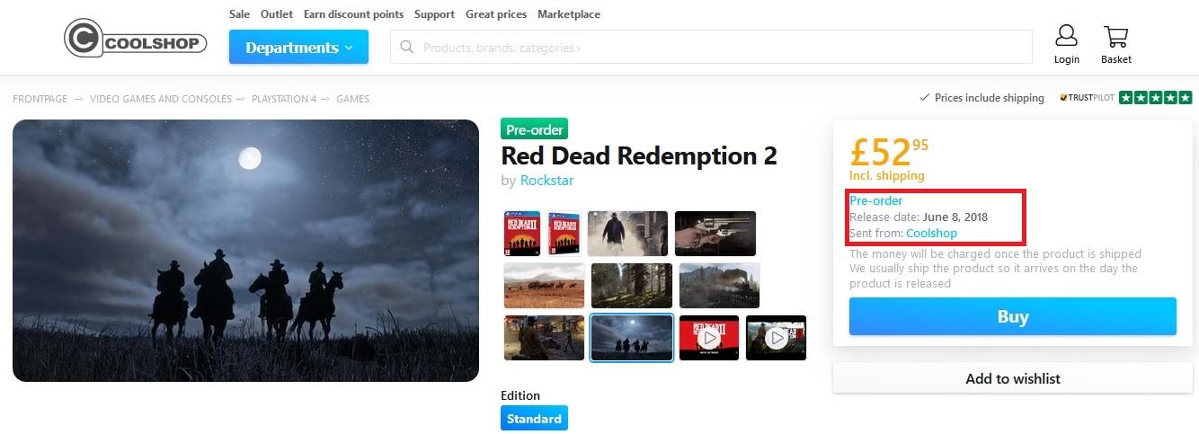 Red Dead Redemption 2 - Fecha de lanzamiento
