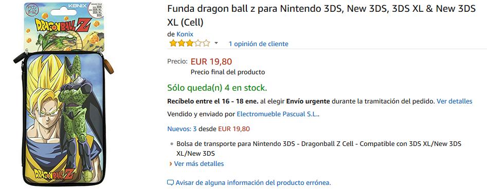 Accesorios de Dragon Ball para Nintendo 3DS