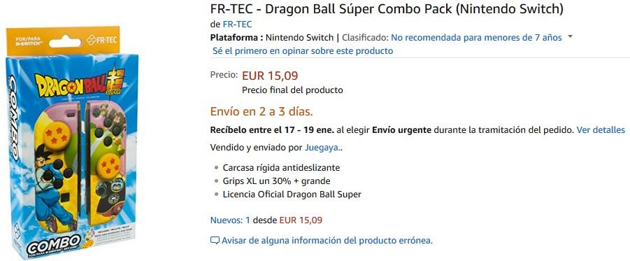 Accesorios de Dragon Ball para Nintendo Switch
