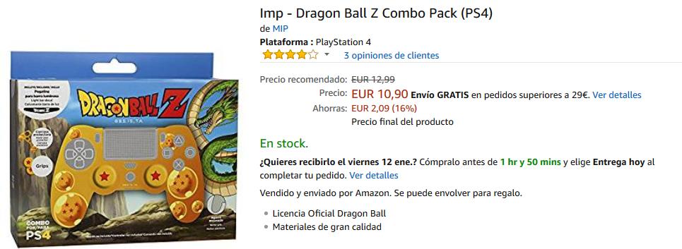 Accesorios Dragon Ball para PS4