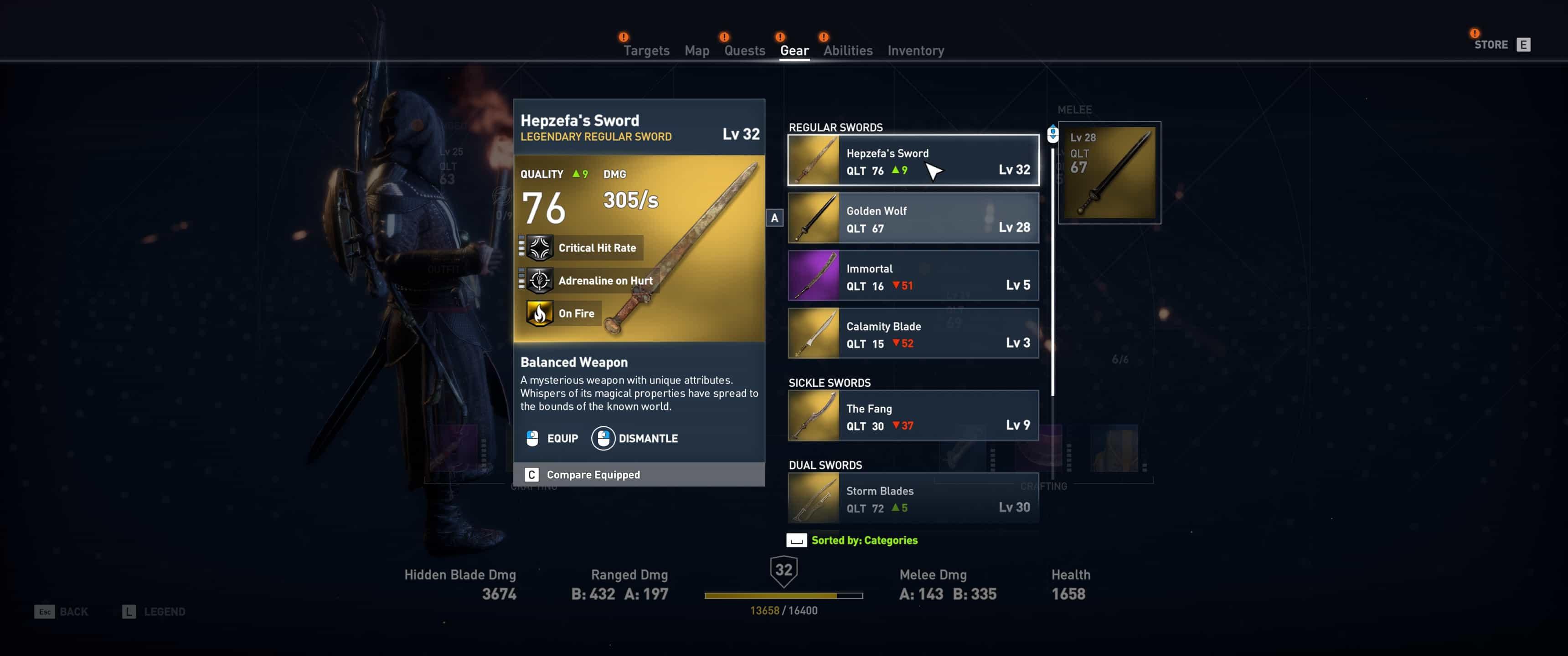 Assassin's Creed Origins - Espada de Hepzefa