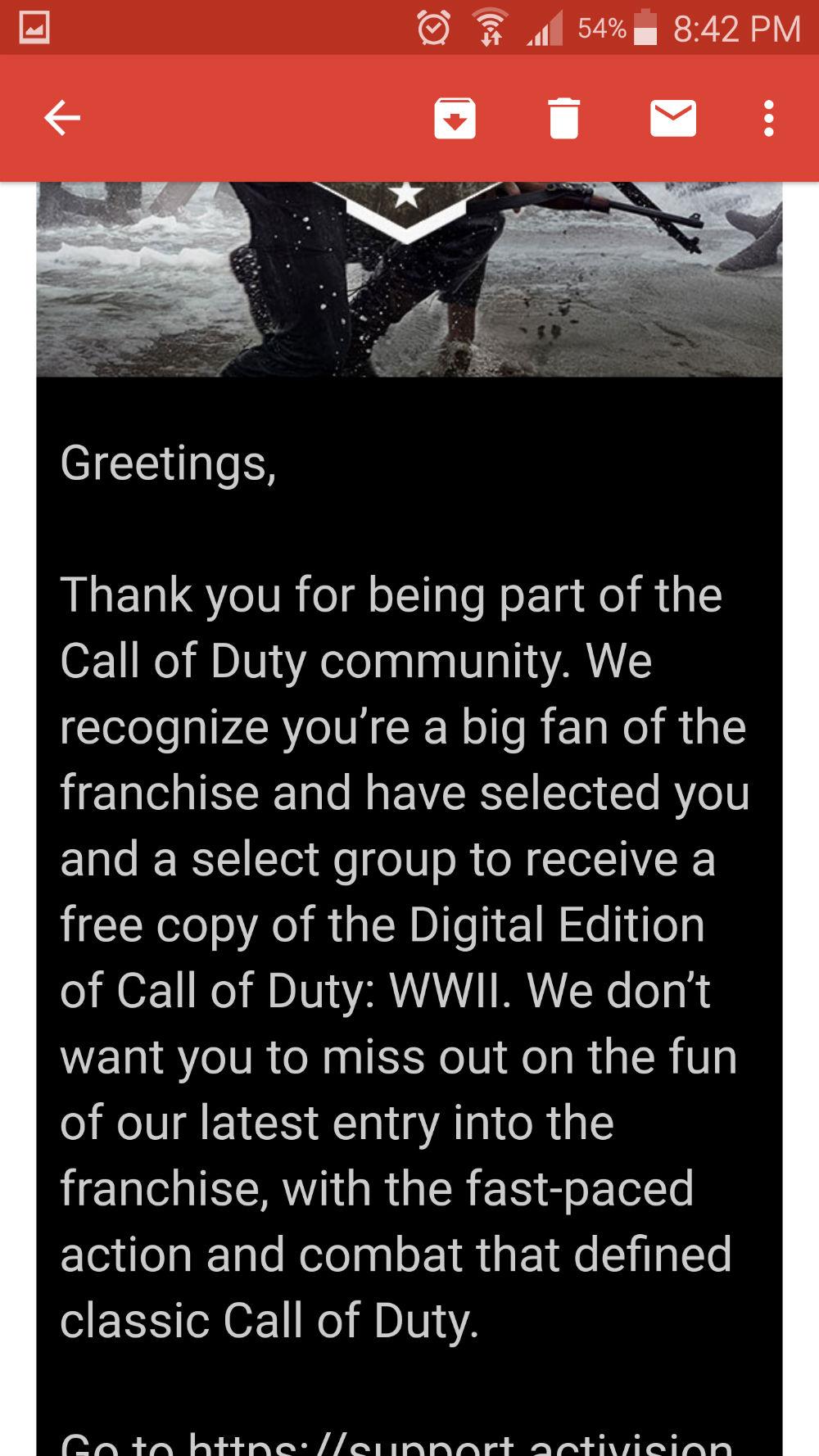 CoD WWII gratis