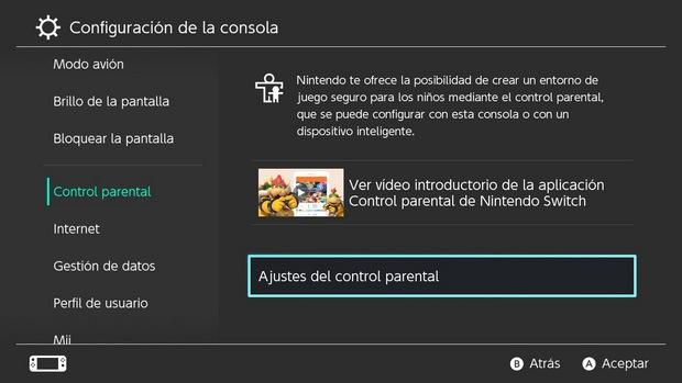Poner un PIN a la Nintendo Switch