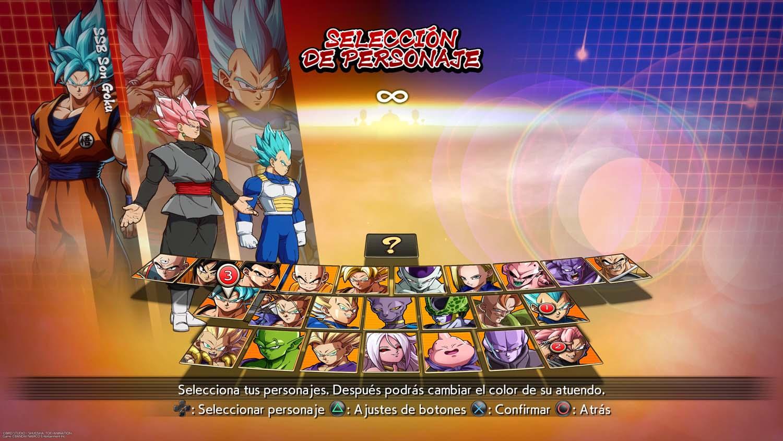 Dragon Ball FighterZ luchadores