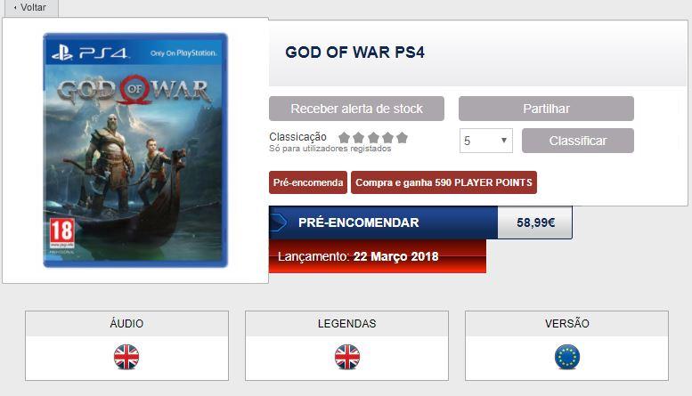 God of War PS4 fecha de salida filtrada