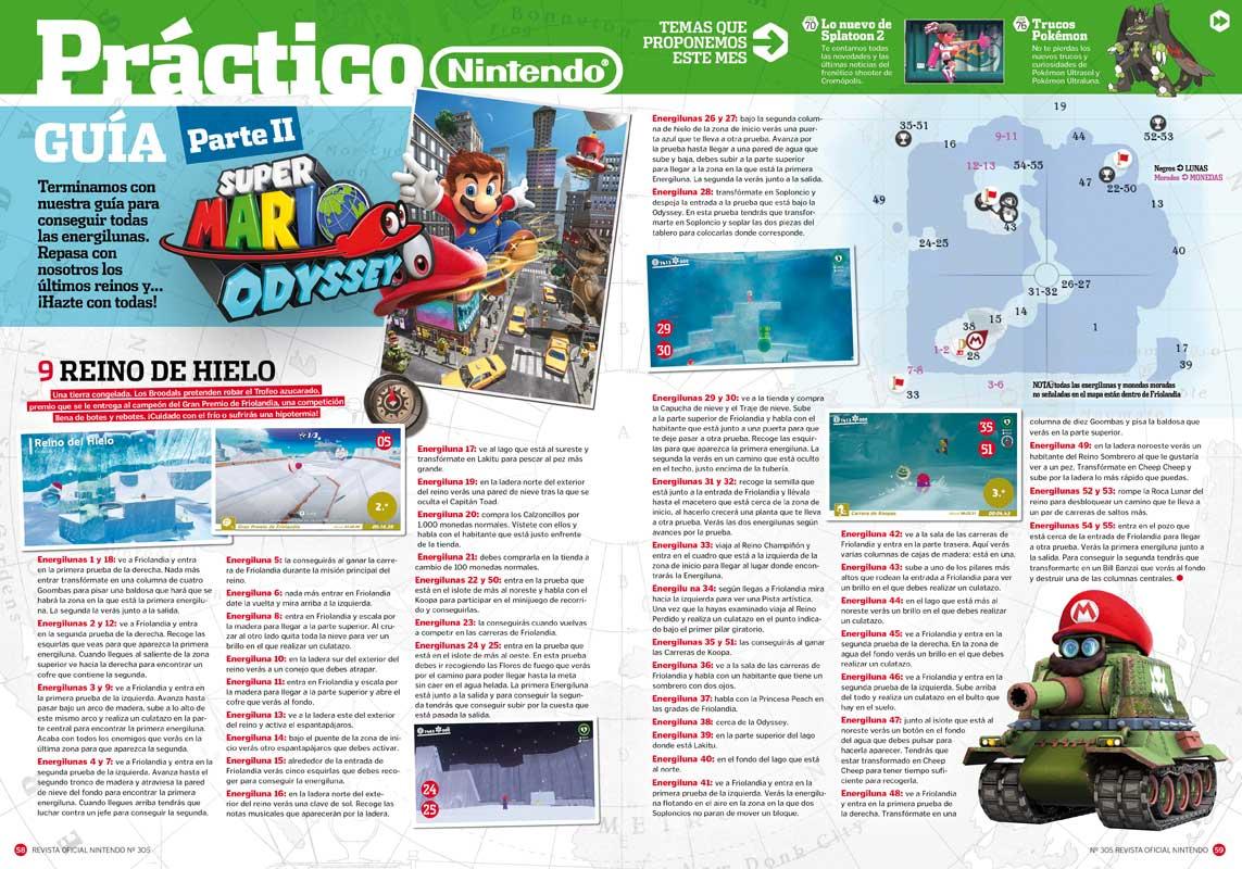 Guía Super Mario Odyssey. RON 305