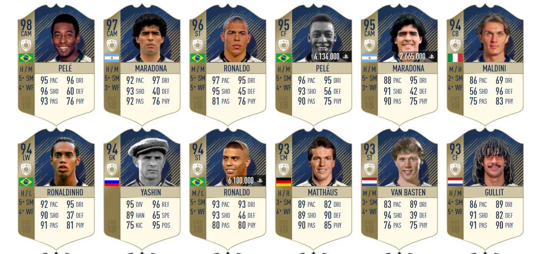 Iconos de FIFA 18