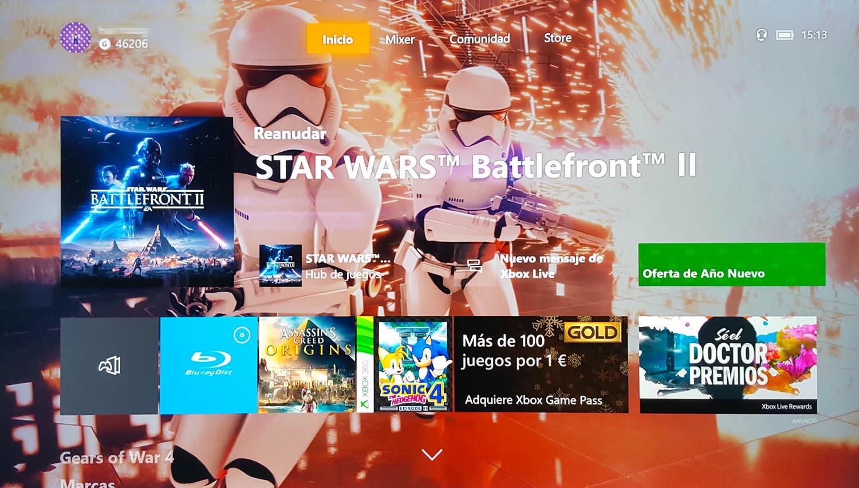 Menú de Xbox One