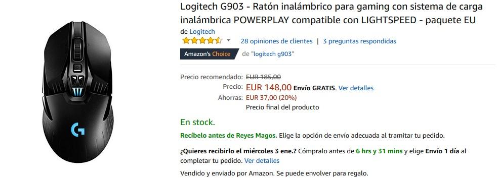 Ratón gaming Logitech G903