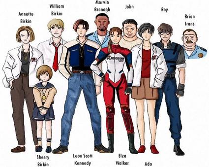 RE 1.5 Personajes