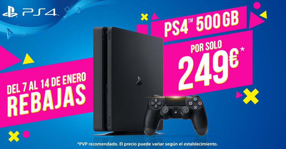 Rebaja precio PS4 500GB