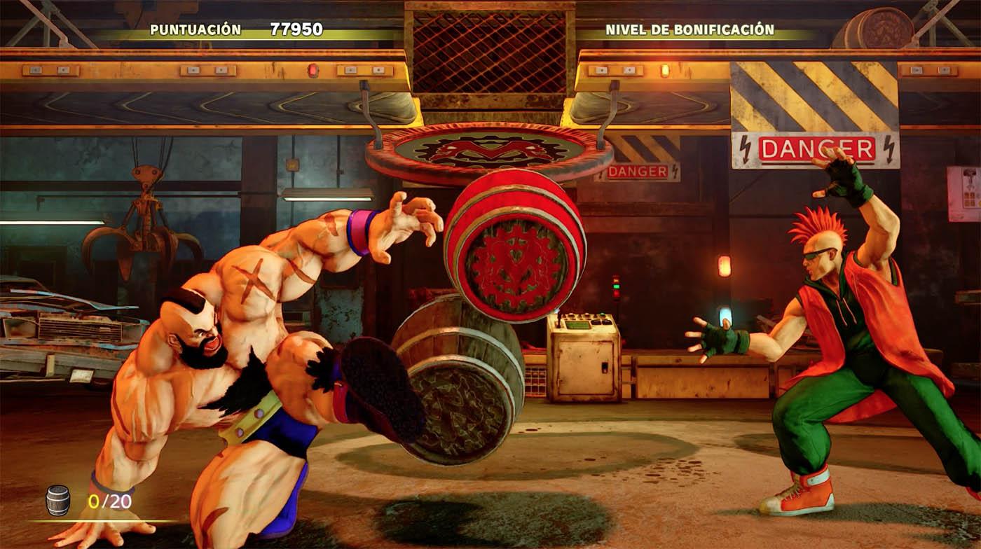Street Fighter V Arcade Edition - Fase de Bonus