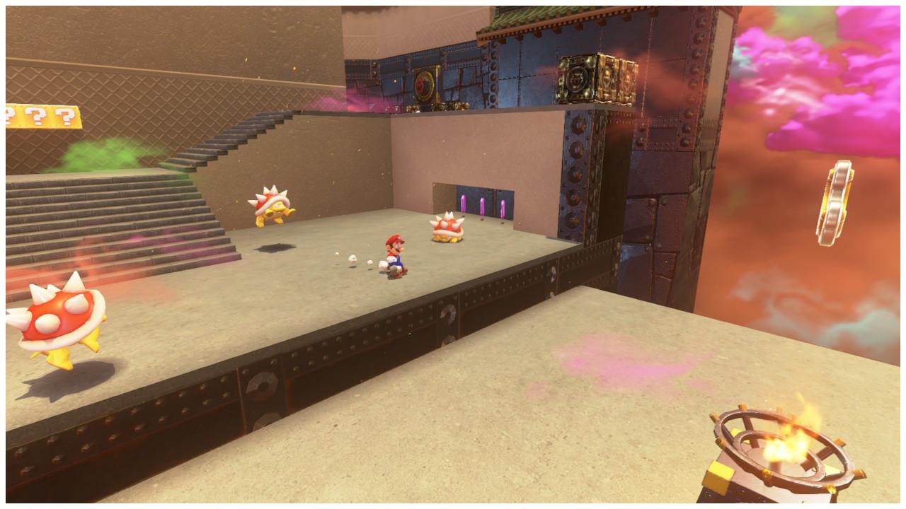 Super Mario Odyssey Monedas moradas Reino Bowser
