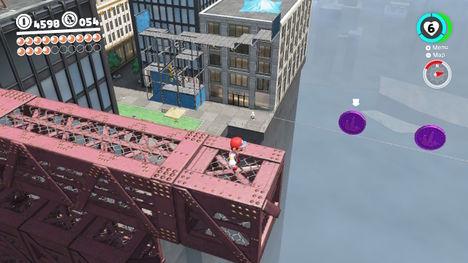 Super Mario Odyssey - Monedas moradas Reino Urbano